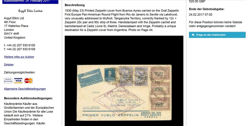 nach - Südamerikafahrt 1930, Post nach Sevilla - Seite 2 Argent12