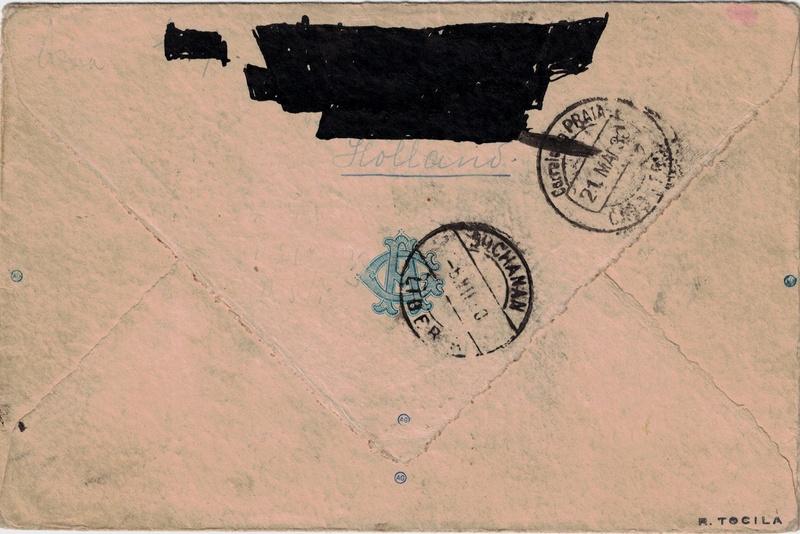 Südamerikafahrt 1930, Post nach Praia (Kapverdische Inseln) - Seite 2 Hollan10