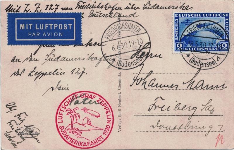 """nach - Südamerikafahrt 1930 (Rundfahrt-) Post nach Friedrichshafen"""" - Seite 7 Pern_f10"""