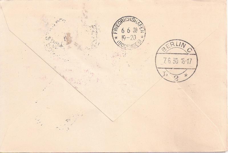 """nach - Südamerikafahrt 1930 (Rundfahrt-) Post nach Friedrichshafen"""" - Seite 7 Recife10"""