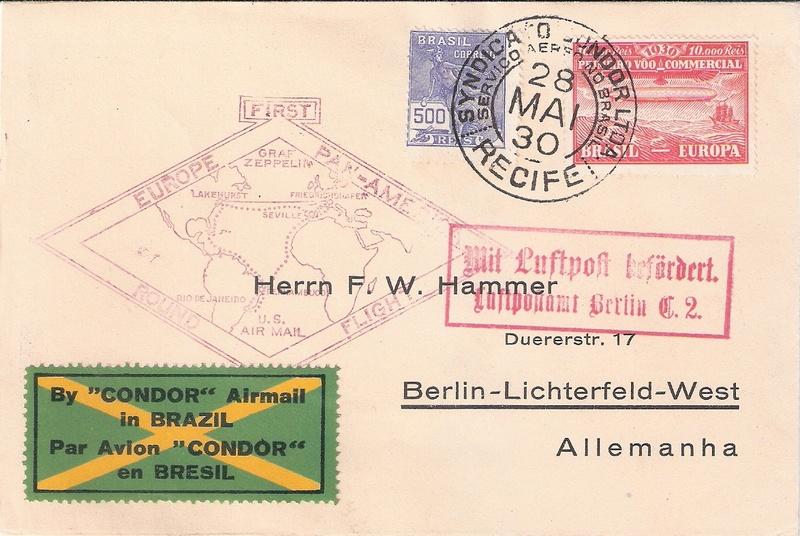 """nach - Südamerikafahrt 1930 (Rundfahrt-) Post nach Friedrichshafen"""" - Seite 7 Recife11"""