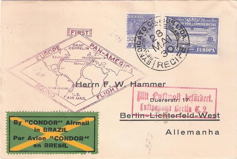 """nach - Südamerikafahrt 1930 (Rundfahrt-) Post nach Friedrichshafen"""" - Seite 7 Recife12"""