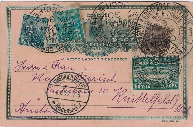 """nach - Südamerikafahrt 1930 (Rundfahrt-) Post nach Friedrichshafen"""" - Seite 7 Recife14"""