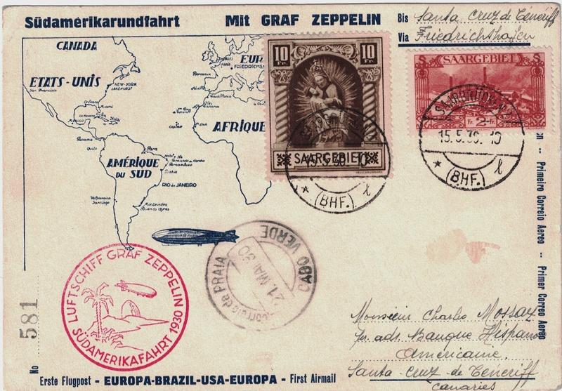 Südamerikafahrt 1930, Post nach Praia (Kapverdische Inseln) - Seite 2 Saar_p11