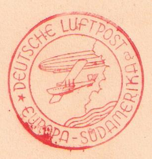 """Südamerikapost per Zeppelin"" Saf11"