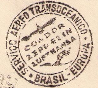 """Südamerikapost per Zeppelin"" Saf210"