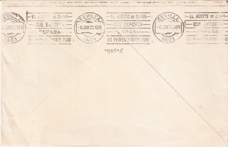 nach - Südamerikafahrt 1930, Post nach Sevilla - Seite 2 Scanne13