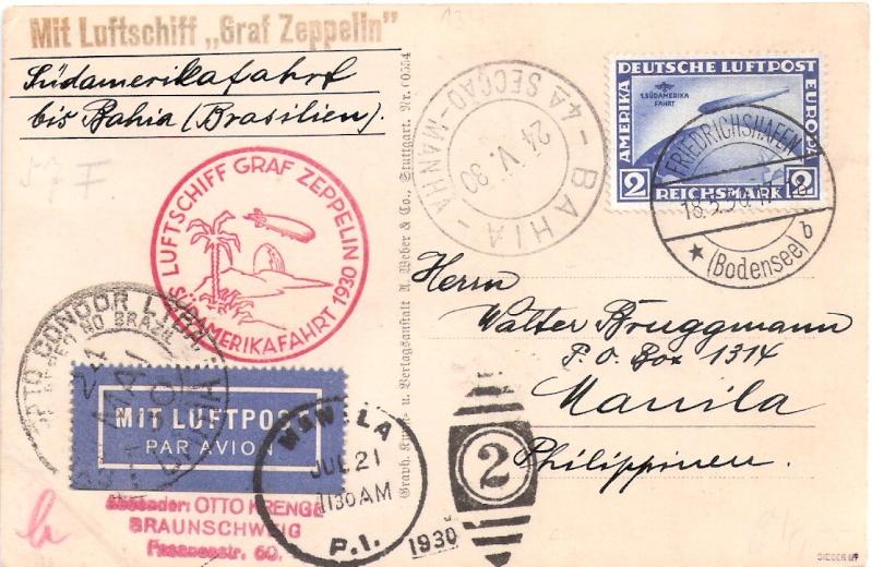 Südamerikafahrt 1930, Post nach (Salvador de) Bahia Scanne17