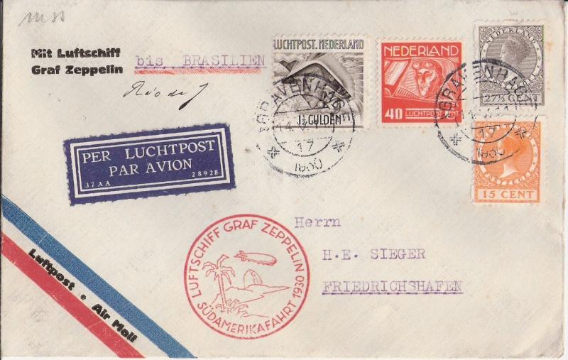 nach - Südamerikafahrt 1930, Post nach Rio de Janeiro Scanne36