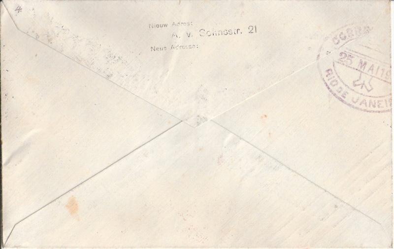 nach - Südamerikafahrt 1930, Post nach Rio de Janeiro Scanne37