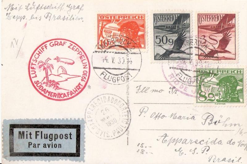 nach - Südamerikafahrt 1930, Post nach Rio de Janeiro Scanne38