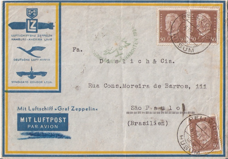 """Südamerikapost per Zeppelin"" Scanne52"