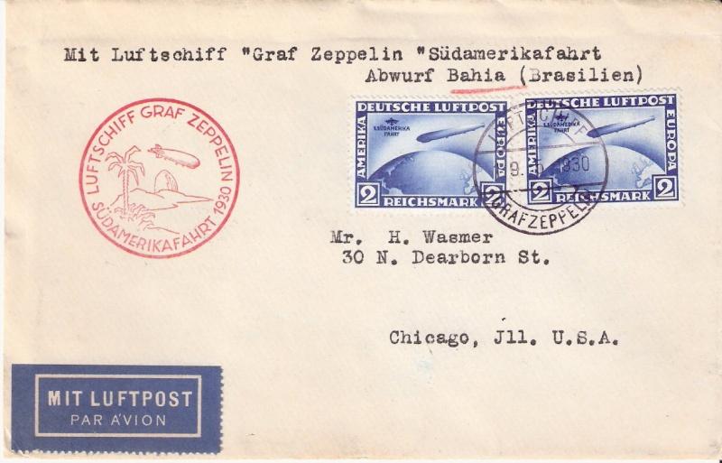 Südamerikafahrt 1930, Post nach (Salvador de) Bahia Scanne58
