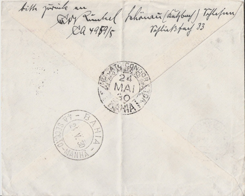 Südamerikafahrt 1930, Post nach (Salvador de) Bahia Scanne67