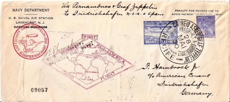 """nach - Südamerikafahrt 1930 (Rundfahrt-) Post nach Friedrichshafen"""" - Seite 6 Scanne68"""