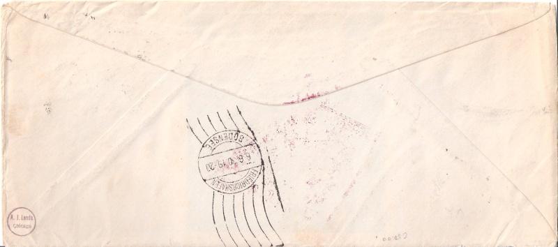 """nach - Südamerikafahrt 1930 (Rundfahrt-) Post nach Friedrichshafen"""" - Seite 6 Scanne69"""