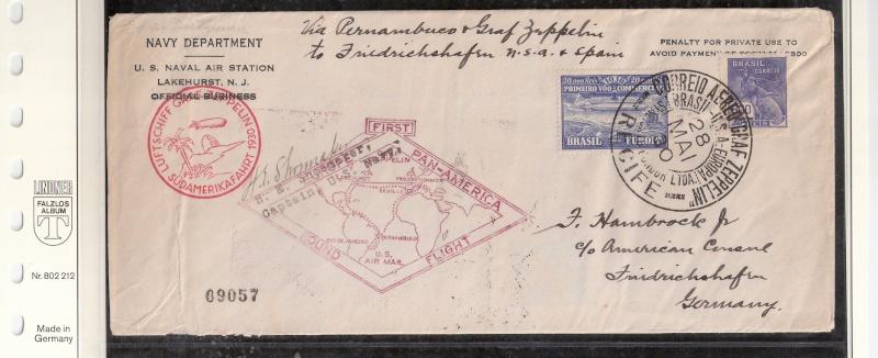 """Südamerikafahrt 1930 (Rundfahrt-) Post nach Friedrichshafen"""" - Seite 4 Scanne73"""