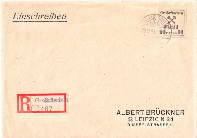 Deutsches Reich - Belege aus Dezember 1945  Scanne75
