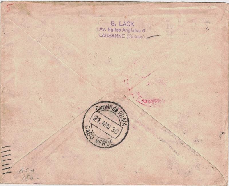 Südamerikafahrt 1930, Post nach Praia (Kapverdische Inseln) - Seite 2 Schwei12