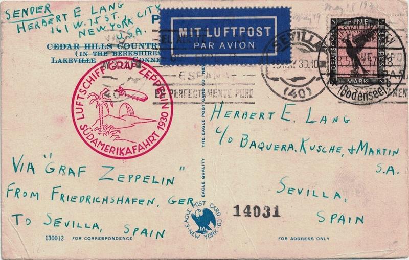 Südamerikafahrt 1930, Post nach Sevilla - Seite 3 Sevill10