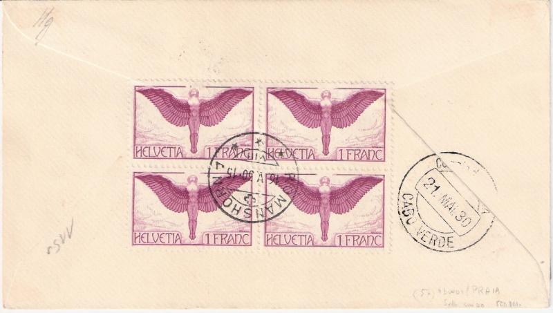 nach - Südamerikafahrt 1930, Post nach Praia (Kapverdische Inseln) Sieger11