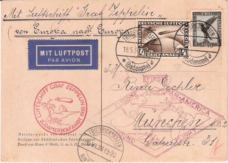 """Südamerikafahrt 1930 (Rundfahrt-) Post nach Friedrichshafen"""" - Seite 4 Sieger13"""