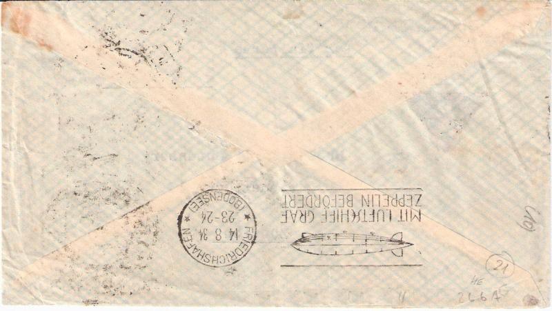"""Südamerikapost per Zeppelin"" Sieger20"