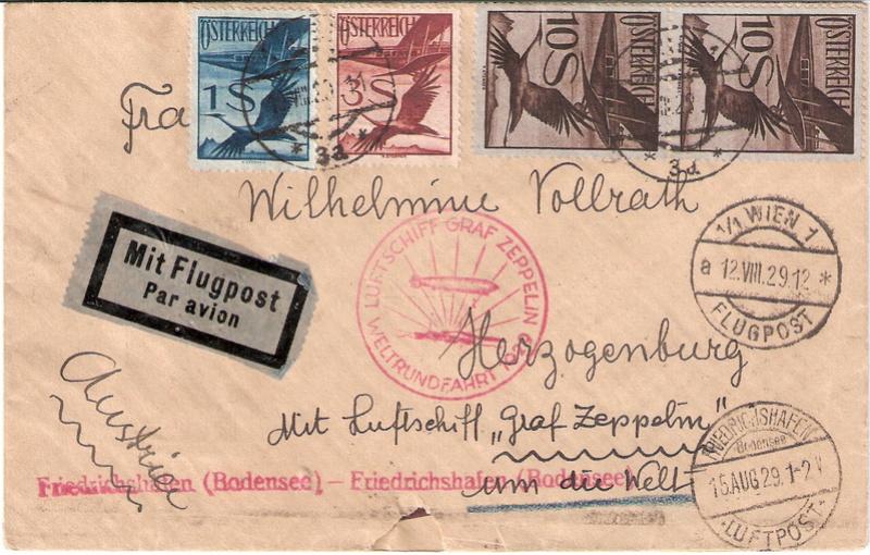 """nach - Südamerikafahrt 1930 (Rundfahrt-) Post nach Friedrichshafen"""" - Seite 7 Sieger28"""