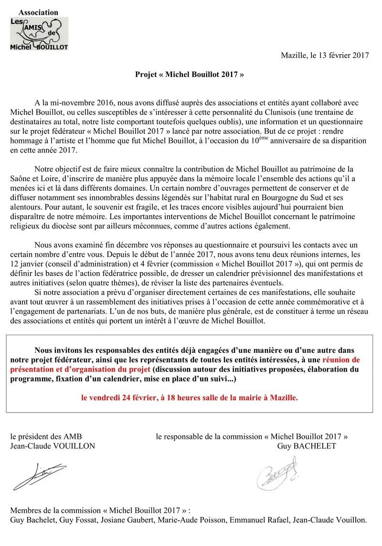 Projet « Michel Bouillot 2017 »  110