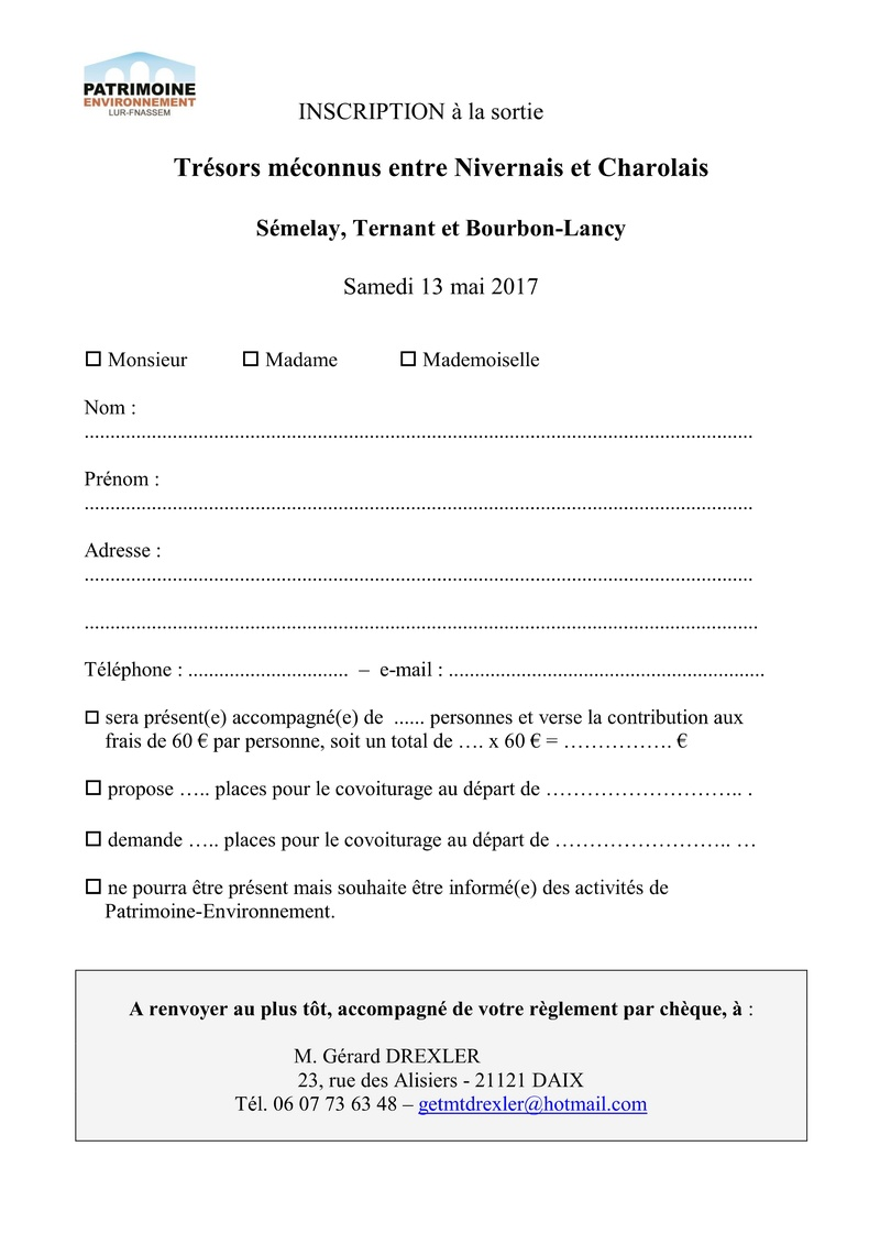 Trésors méconnus entre Nivernais et Charolais  Sémelay, Ternant et Bourbon-Lancy  Samedi 13 mai 2017 150