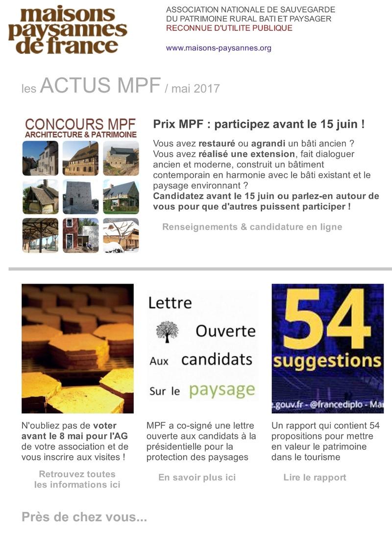 Lettre d'info Maisons Paysannes de France - mai 2017 151