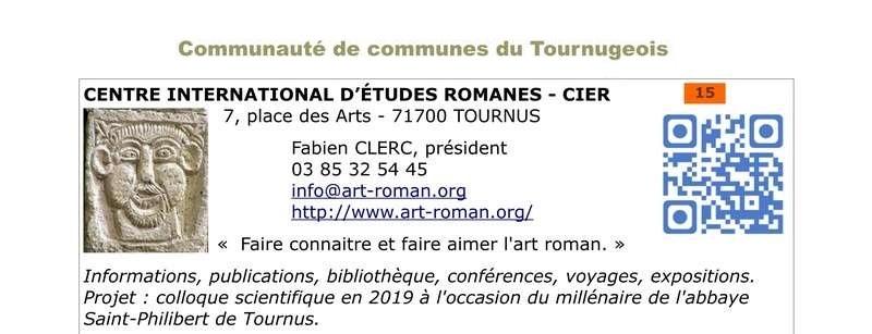 Le Centre International d'Etudes Romanes à Tournus en Bourgogne 151110