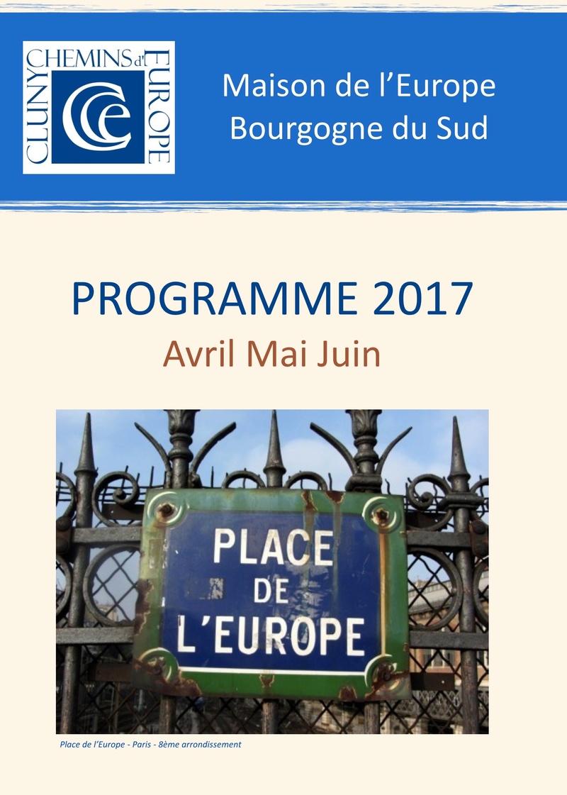 Programme du deuxième trimestre 2017 Cluny Chemins d'Europe 1a15
