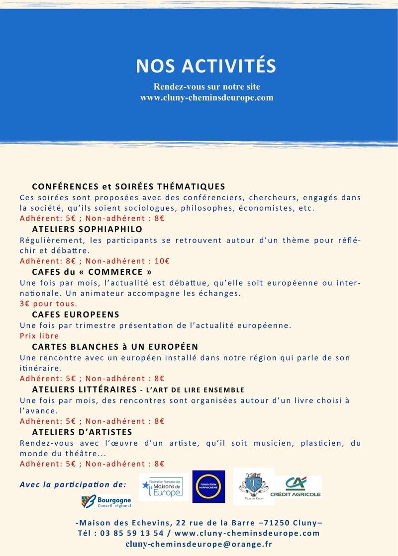 Programme du deuxième trimestre 2017 Cluny Chemins d'Europe 1b12