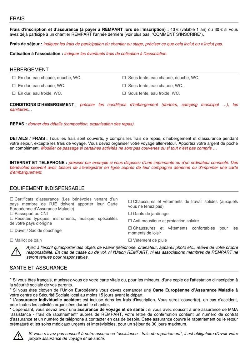 La lettre de REMPART n°352, mars 2017  Feuilles de route et fiche d'entretien téléphonique avec les jeunes 214