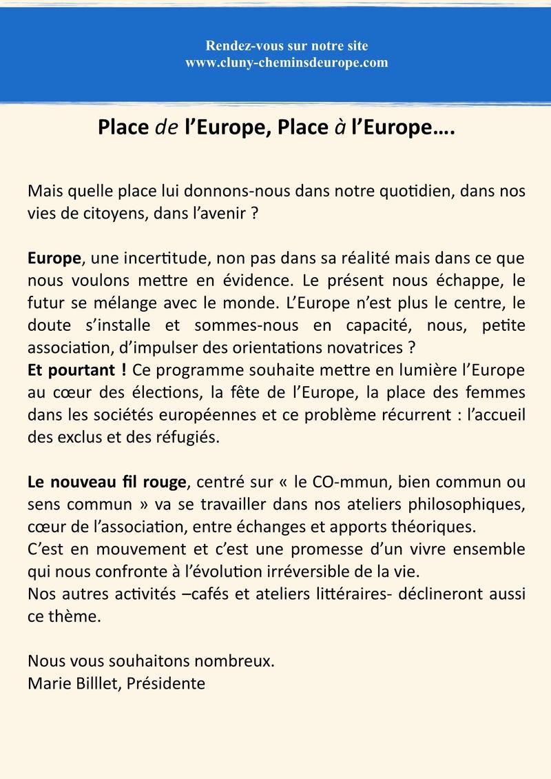 Programme du deuxième trimestre 2017 Cluny Chemins d'Europe 2a11