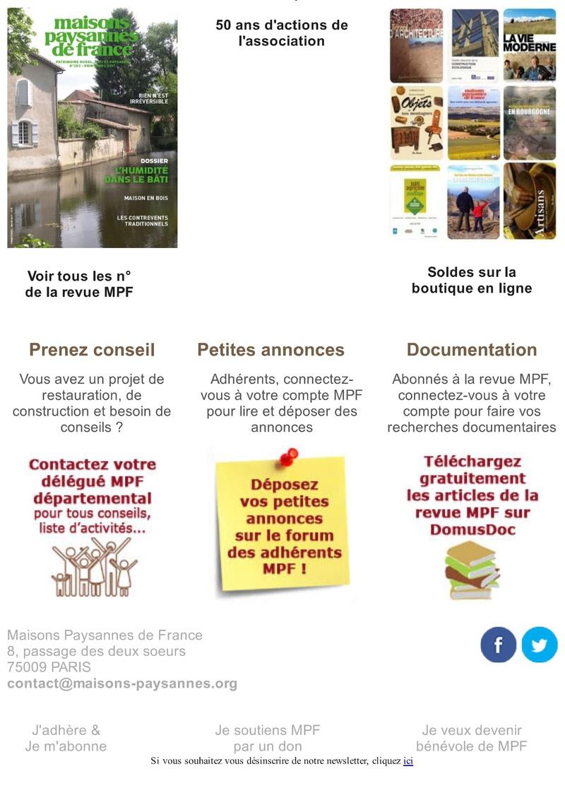 Lettre d'info Maisons Paysannes de France - avril 2017 316