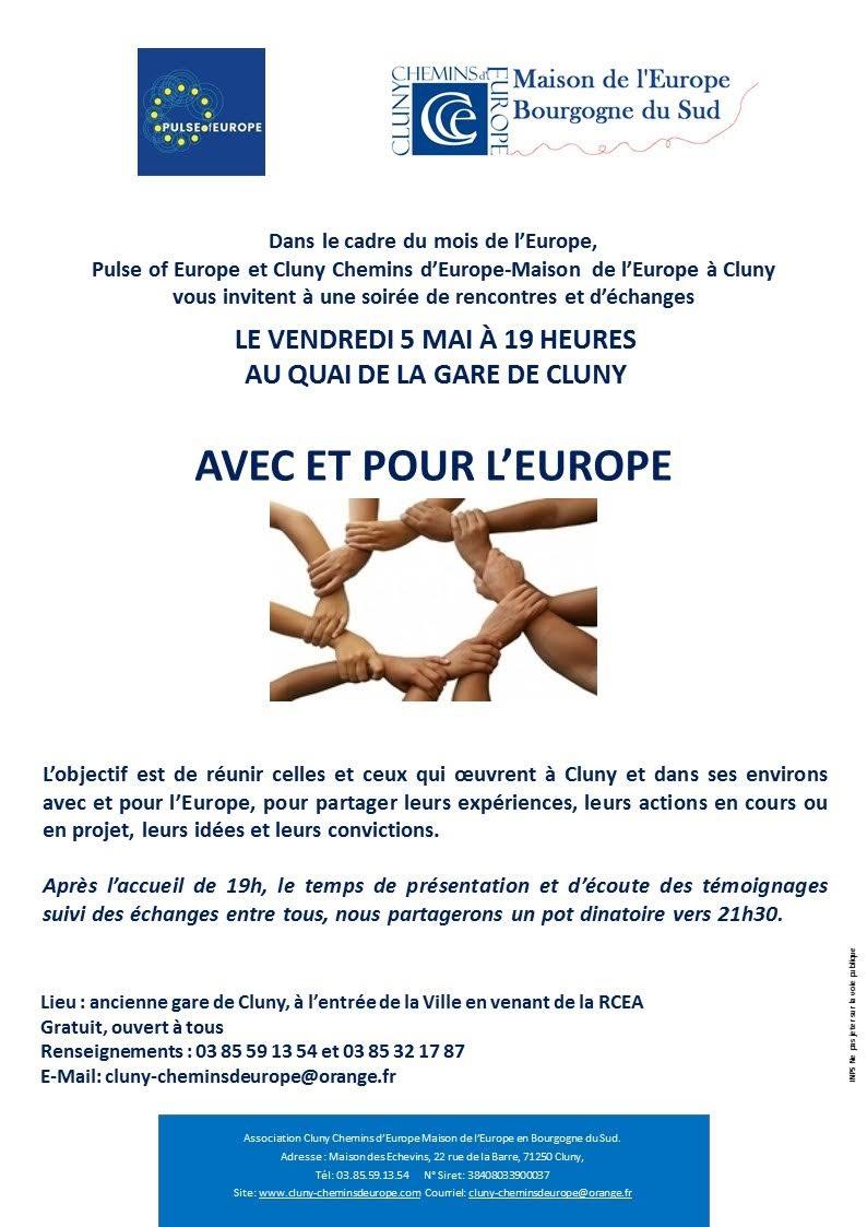 AVEC ET POUR L'EUROPE LE 5 MAI 2017 Cluny10