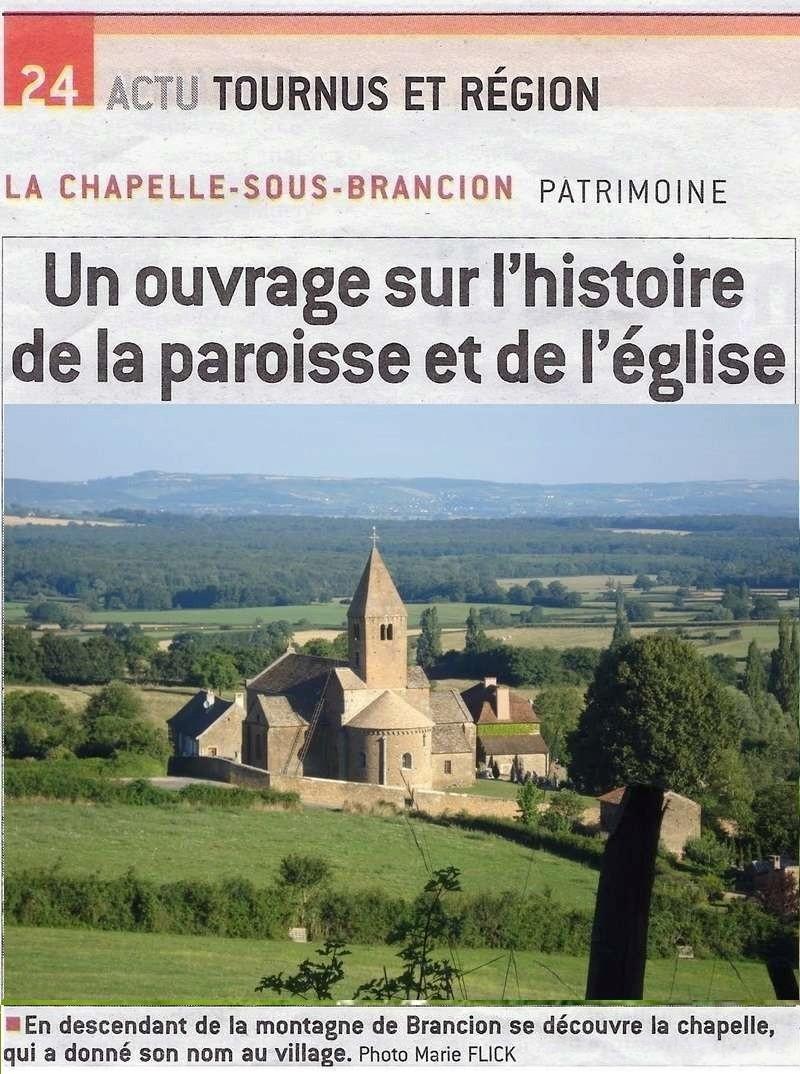 """jsl LES DOSSIERS DE """"CULTURE ET PATRIMOINE"""" N°2, L'église et la paroisse de la Chapelle-sous-Brancion (disponible en mairie du même lieu). L_eigl15"""