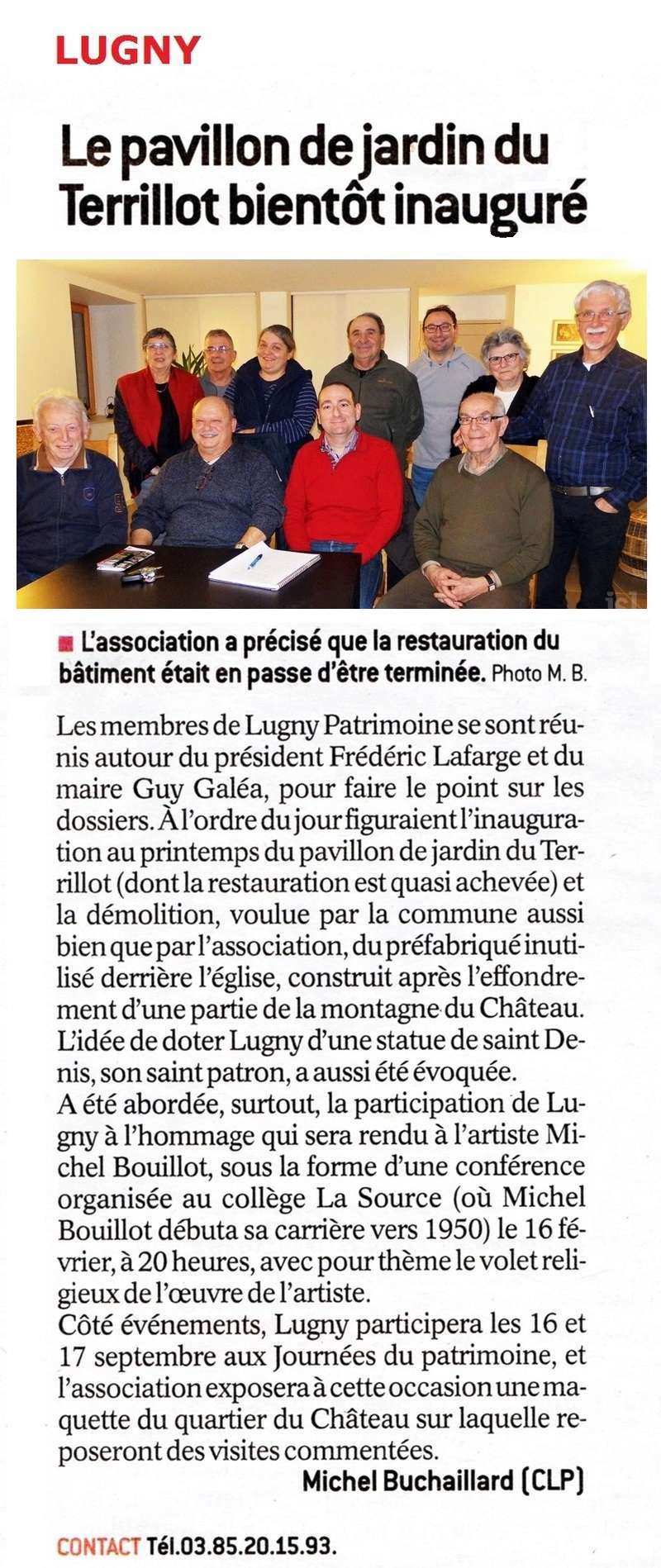 "Lugny : ""Le pavillon de jardin du Terrillot bientôt inauguré"" (Le JSL du samedi 21 janvier 2017). Lugny_12"