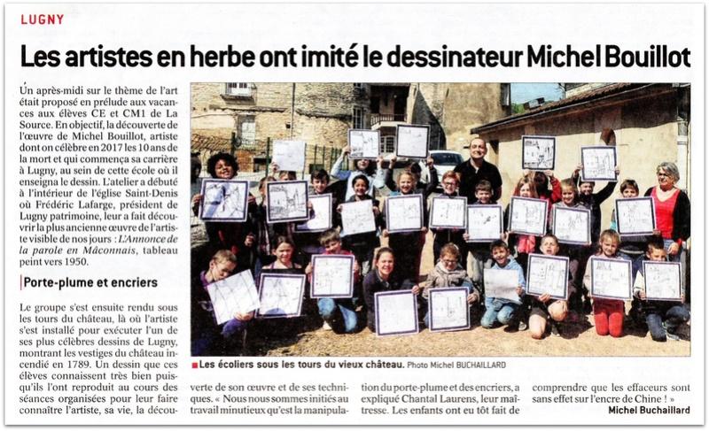"""Lugny : """"Les artistes en herbe ont imité le dessinateur Michel Bouillot"""" (""""Le JSL"""" du mardi 18.04.2017). Lugny_13"""