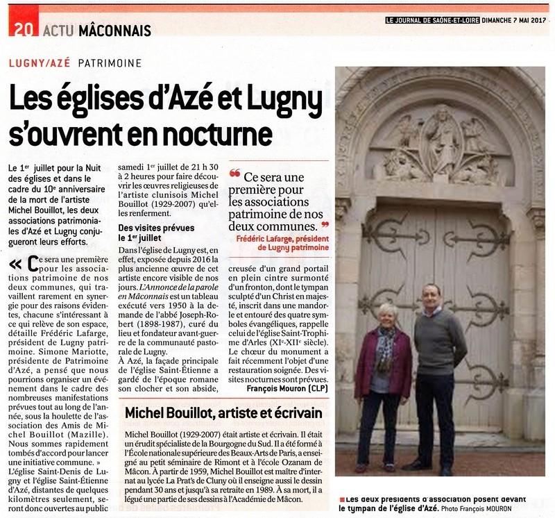 LUGNY/AZÉ - PATRIMOINE Les églises d'Azé et Lugny s'ouvrent en nocturne Lugny_14