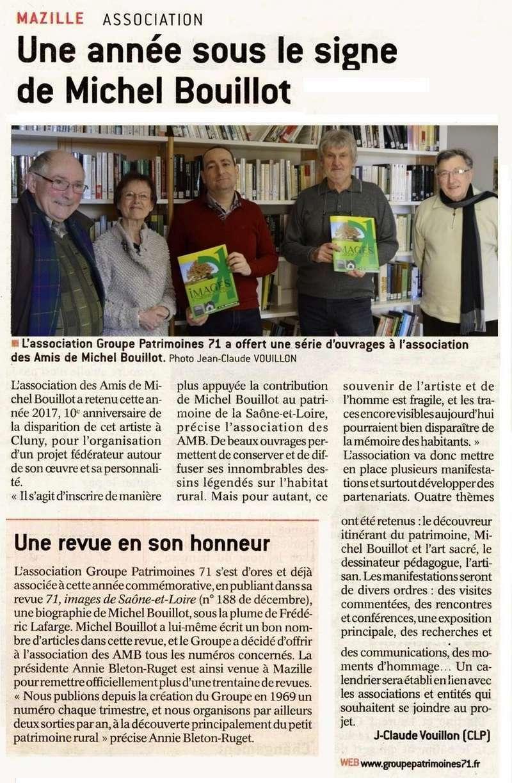 """""""Une année sous le signe de Michel Bouillot"""" (""""Le JSL"""" du samedi 7 janvier 2017) Mazill10"""
