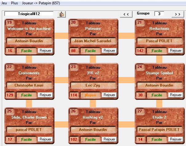 Scores de Patapin Groupe23