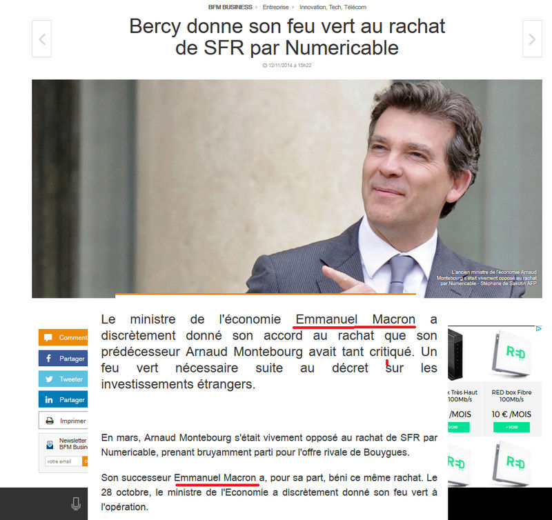 Mensonge n°01 Emmanuel Macron (SFR)  Sfr410