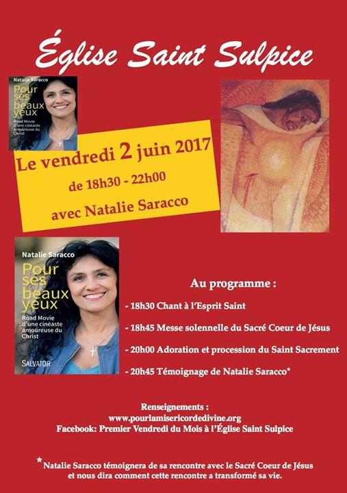 Le 2 juin – 18h30 : Eglise Saint Sulpice PARIS – Natalie Saracco N_sarr10
