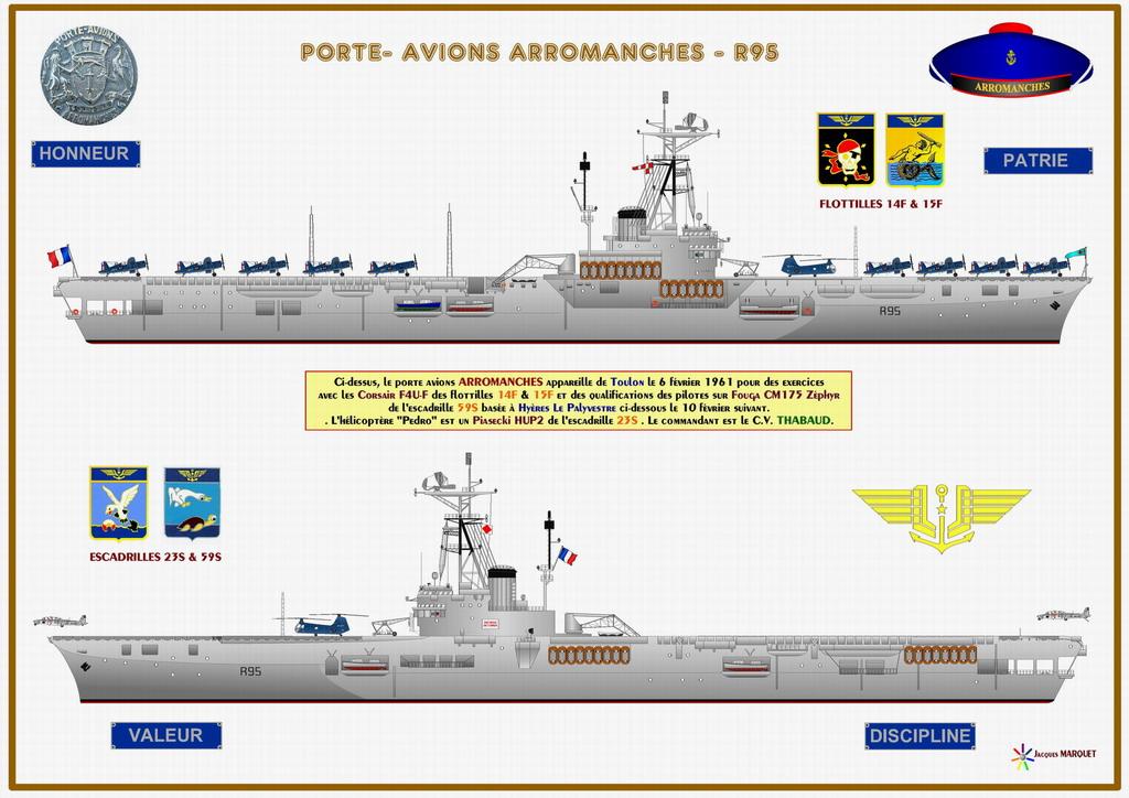 [Les anciens avions de l'aéro] F4 U7 Corsair - Page 28 Arroma14
