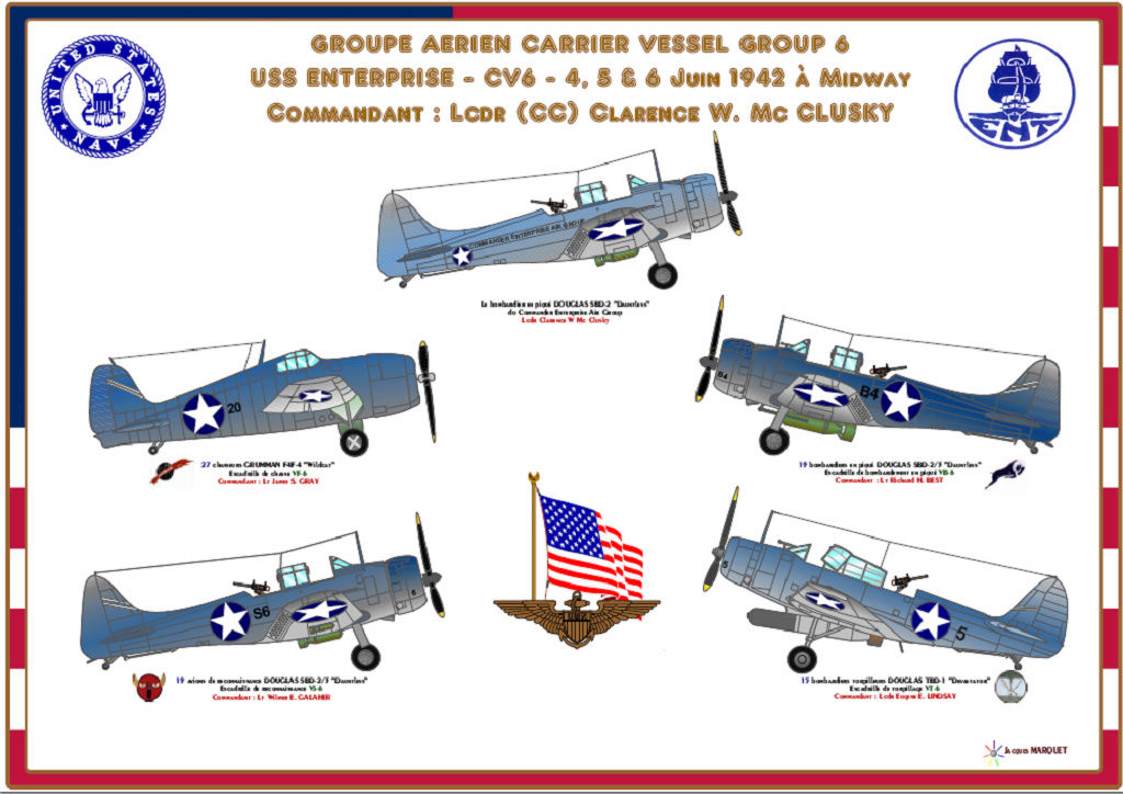 Il y a 75 ans la bataille de Midway  Cvg6_e10