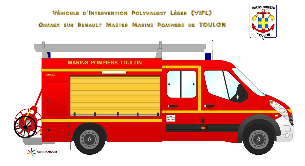 V hicules des marins pompiers - Camion de pompier a dessiner ...