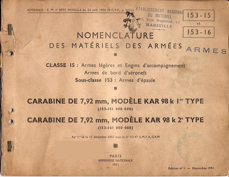 nomenclature d'un mauser 98k ww2 153-1510